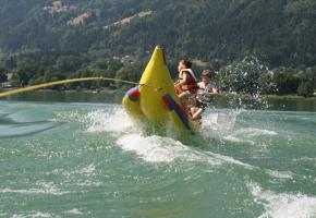 Banane fahren am Ossiacher See