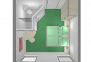 Skizze Doppelzimmer TYP A1