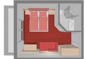 Skizze Doppelzimmer TYP B Landhaus