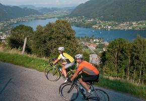 Rad fahren am Ossiacher See