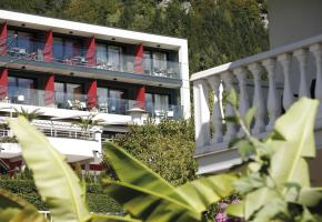 Blick auf das Hotel
