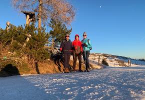 Winterwanderung Eva, Robert und Moritz