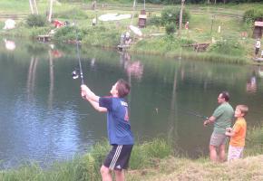 Fischen am Forellenteich