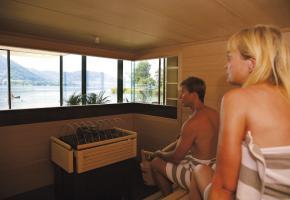 Finnische Sauna am See